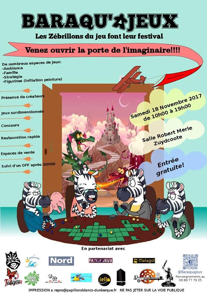 Affiche festival Baraqu'ajeux